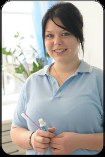 Katrin Loch, ZFA in der Zahnarztpraxis Dr. Bugger in Völklingen (© Oliver Misof -Fotodesign Misof)