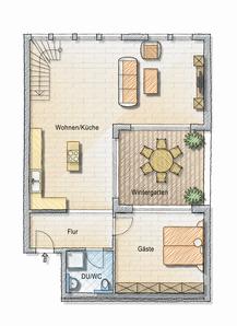 Grundriss Wohnung 3 OG1