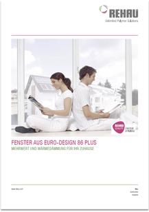 Prospekt REHAU Euro-Design 86 Plus. von JURA Kunststoff-Fenster