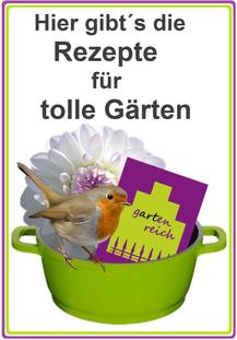 Bild: Hier gibt´s die Rezepte für tolle Gärten, in denen sich auch Rotkehlchen glücklich fühlen.