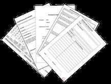 Musterformulare, Checklisten, Ausfüllhillfen, Erläuterungen und Informationen für den betrieblichen Arbeitsschutz.