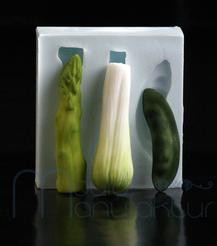 Gemüse MouldManufaktur Silikonform Mould Fondant Tomate Banane Apfel Zitrone Kirsche