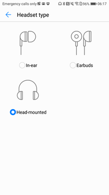 Sound settings in Honor 9: what is given and what is