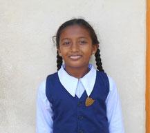 サラニさん(10歳) ウィルガンデマタワ小学校