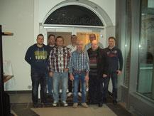 Von links: Nico Lühmann, Boan Cepni, Dietmar Marquardt, Michael König, Franz Vlasics, Frank Rutter, Dietmar Müller, René Neumann
