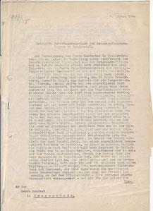 Besuchsbericht des zuständige Amtsarztes vom 8.8.1940. VDK