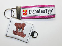 Diabetiker  Schlüsselanhänger Notfallset für Kinder, Anhänger, Diabetes