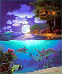На фото: картины гавайского художника Al Hogue