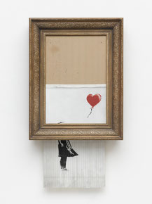 Banksy, Love is in the Bin, 2018.  Privatsammlung. Foto: Staatsgalerie Stuttgart, © Banksy
