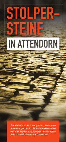Das Cover der Broschüre Stolpersteine in Attendorn