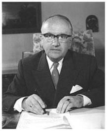 Walter Hallstein, (*1901, gest. 1982):  Deutsches Bildarchiv