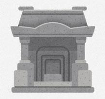 沖縄のお墓 イラスト