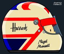 Helmet of Nigel Mansell by Muneta & Cerracín