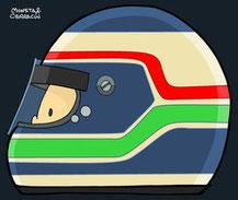 Helmet of Gianmaria Bruni by Muneta & Cerracín