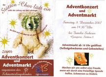Einladung Benefizkonzert Schmetterlingskinder Stötten-Chor Gampern Dezember 2007