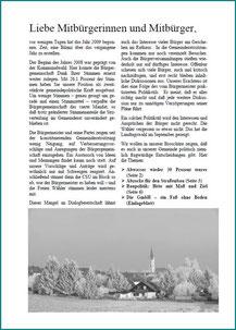 Broschüre 2009