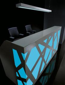 Empfangstheke gebrauchte Büromöbel