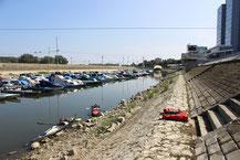 Ausstiegsstelle im Hafen von Osijek