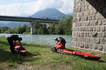 Blick auf die Etsch im Trentino.