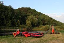 Campingplatz an der Berounka.