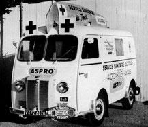 PEUGEOT D3A    ASPRO     Caravane Tour de France 1954