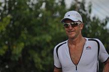 Winfried auf der Laufstrecke in Barcelona