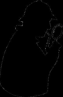 Scherenschnitt von Sherlock Holmes