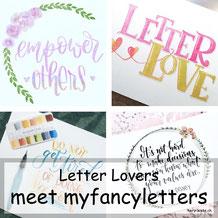 Letter Lovers - myfancyletters zu Gast im Lettering Interview mit einer Anleitung für verschiedene Banner