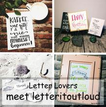 letteritoutloud zu Gast bei den Letter Lovers mit einer DIY Anleitung für einen Lettering Halter