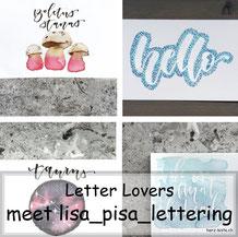 Lisa_pisa_lettering zu Gast im Lettering Interview bei den Letter Lovers mit einer Anleitung für ein Punkte Lettering