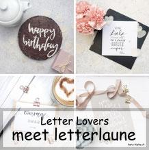 letterlaune zu Gast im Lettering Interview bei den Letter Lovers mit einer Anleitung für einen personalisierten Kuchen mit Handlettering