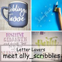 Letter Lovers - ally_scribbles zu Gast im Lettering Interview mit einer Anleitung für ein geplottetes Lettering aus Vinylfolie