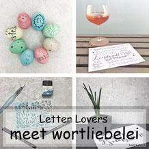 wortliebelei zu Gast im Lettering Interview bei den Letter Lovers mit einer Anleitung für Lettering auf Ostereiern
