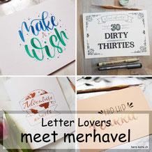 Letter Lovers - merhavel zu Gast im Lettering Interview mit einer einfachen Anleitung für eine Geburtstagskarte