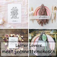 jeannettemokkosch zu Gast im Lettering Interview bei den Letter Lovers mit einer Anleitung für eine schönere Handschrift