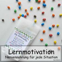 DIY Geschenkidee: Lernmotivation - Nervennahrung für jede Situation