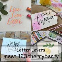 landletterei zu Gast im Lettering Interview bei den Letter Lovers mit einer Anleitung für ein Neon Blending