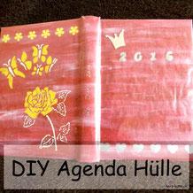 DIY Hülle basteln für eine Agenda