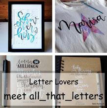Letter Lovers - all_that_letters zu Gast im Lettering Interview mit einer Anleitung für Lettering auf T-Shirts