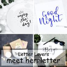 herrletter zu Gast im Lettering Interview bei den Letter Lovers mit einer Anleitung für Sternchen Buchstaben