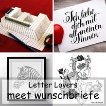 wunschbriefe zu Gast bei den Letter Lovers im Lettering Interview mit einem Tutorial für eine optische Illusion