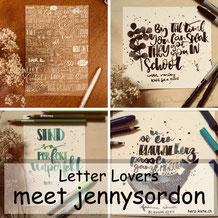 Letter Lovers - jennysordon zu Gast im Lettering Interview mit einer Anleitung zur Musikmeditation