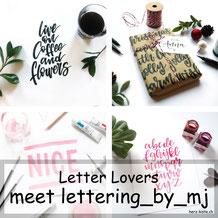 lettering_by_mj zu Gast bei den Letter Lovers mit einer Anleitung für eine Geschenkverpackung mit Handlettering