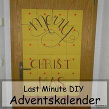 Last Minute Adventskalender mit Handlettering