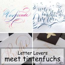Letter Lovers - tintenfuchs zu Gast im Lettering Interview mit einer Anleitung für ein Kalligrafie Wellen Bild