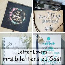 Letter Lovers - mrs.b.letters zu Gast mit einer Anleitung für eine DIY Sammelmappe mit Lettering