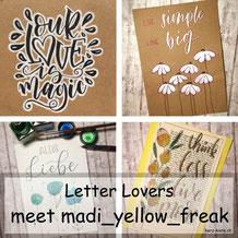 Letter Lovers - madi_yellow_freak zu Gast im Lettering Interview mit einer Anleitung für ein effektvolles schwarz-weiss Lettering