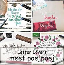 Letter Lovers: poejpoej zu Gast im Lettering Interview mit einer Anleitung zum Folieren ohne Laserdrucker