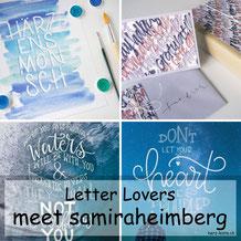 Letter Lovers - samiraheimberg zu Gast mit einer Anleitung für eine Karte und ein Geschenk zum Gestalten mit Lettering