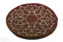 sous-plat laine isolant cadeau décoratif fête table casserolle
